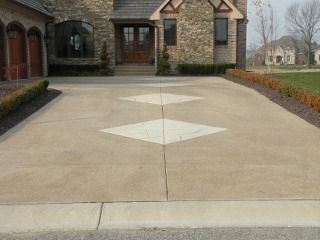 Cheap Driveway Ideas | exposed aggregate driveway