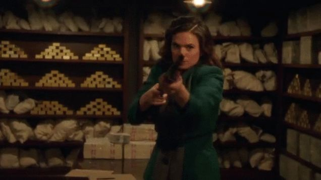 Peggy Swings Shades, Fists, and Shotguns in Our First Glimpse at Agent Carter Season 2