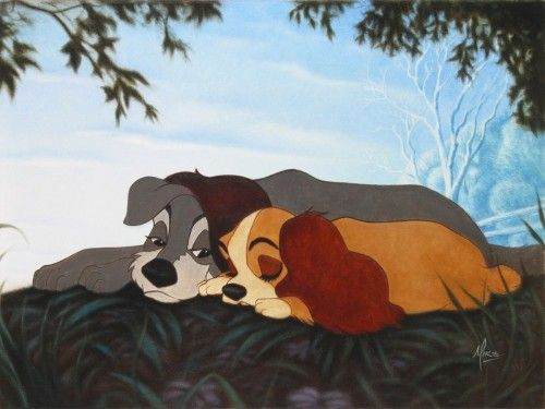 'lady and the tramp' gets me every time; so adorable.