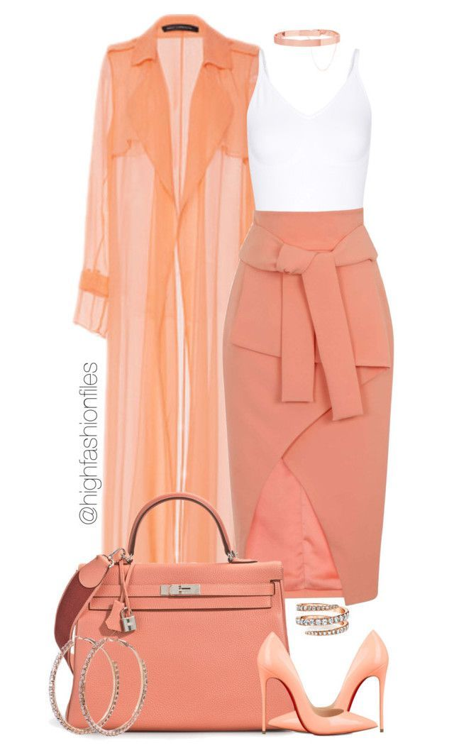 """""""Untitled #2757"""" by highfashionfiles ❤ liked on Polyvore featuring Sally Lapointe, Yummie by Heather Thomson, Lavish Alice, Christian Louboutin and Eddie Borgo"""