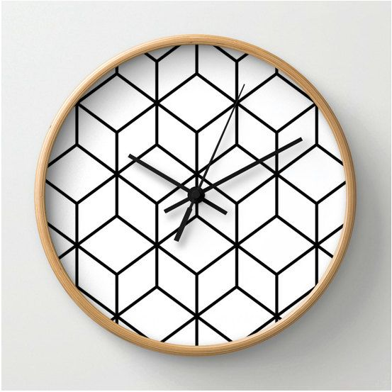 This Clock comes in natural wood, black or white frames, our 10 diameter unique Wall Clocks feature a high-impact plexiglass crystal face and a