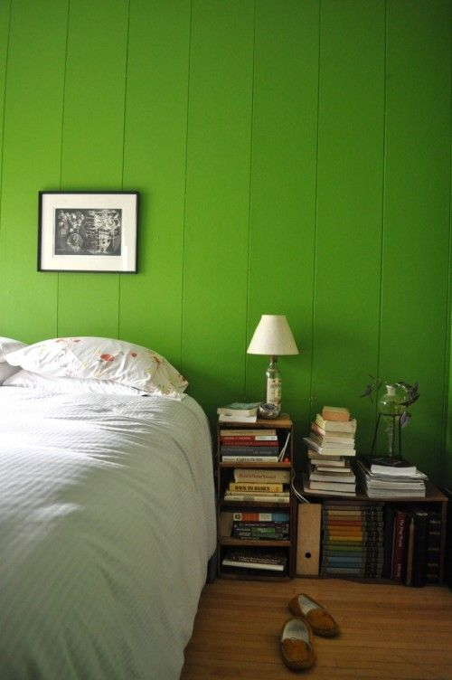 From Elsie Marley's home tour. This is my favourite shade of green ever.