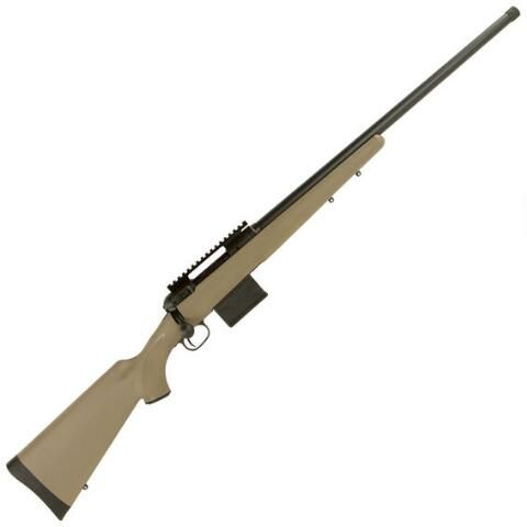 "Savage Model 10 FCP-SR Bolt Action Rifle 6.5 Creed 24"" Threaded H-BAR 10 Rounds Synthetic Stock Matte FDE/Black - 22338 - 011356223388"