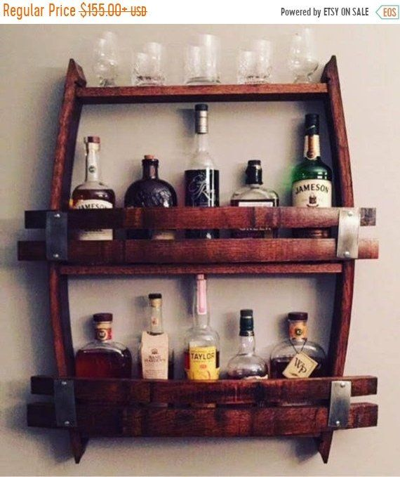 Wine Barrel Wine Rack 12 14 Wine Bottles Made From Reclaimed Wood Wine Barrels Wine Glass Rack Wood Wine Racks Wine Rack Wall