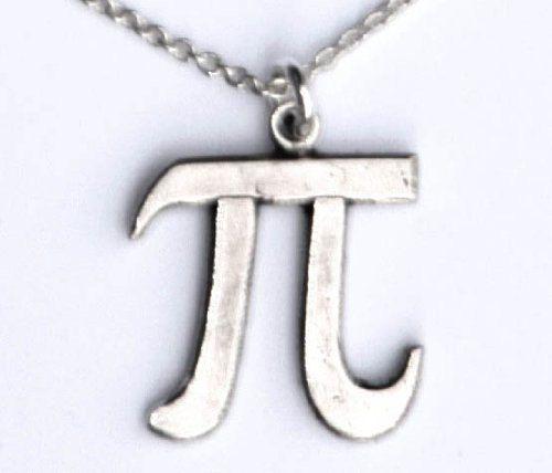 Pi Symbol necklace larger size by sciencestuff on Etsy, $32.00