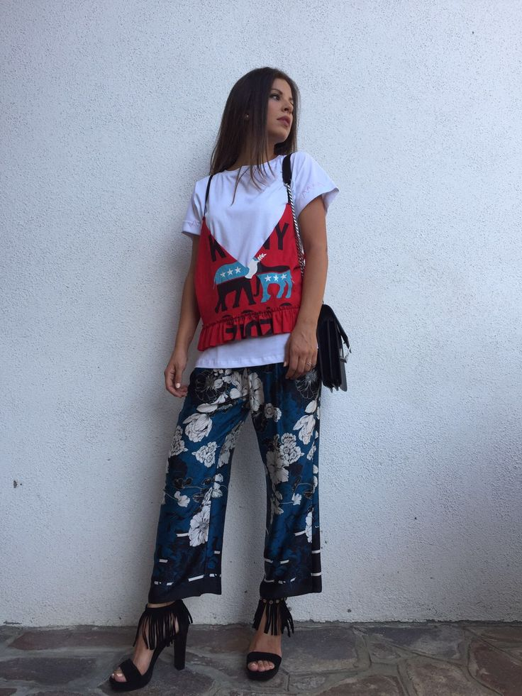 #outfit #suggestions #nastyco #trousers #tshirt #fashion #glamour