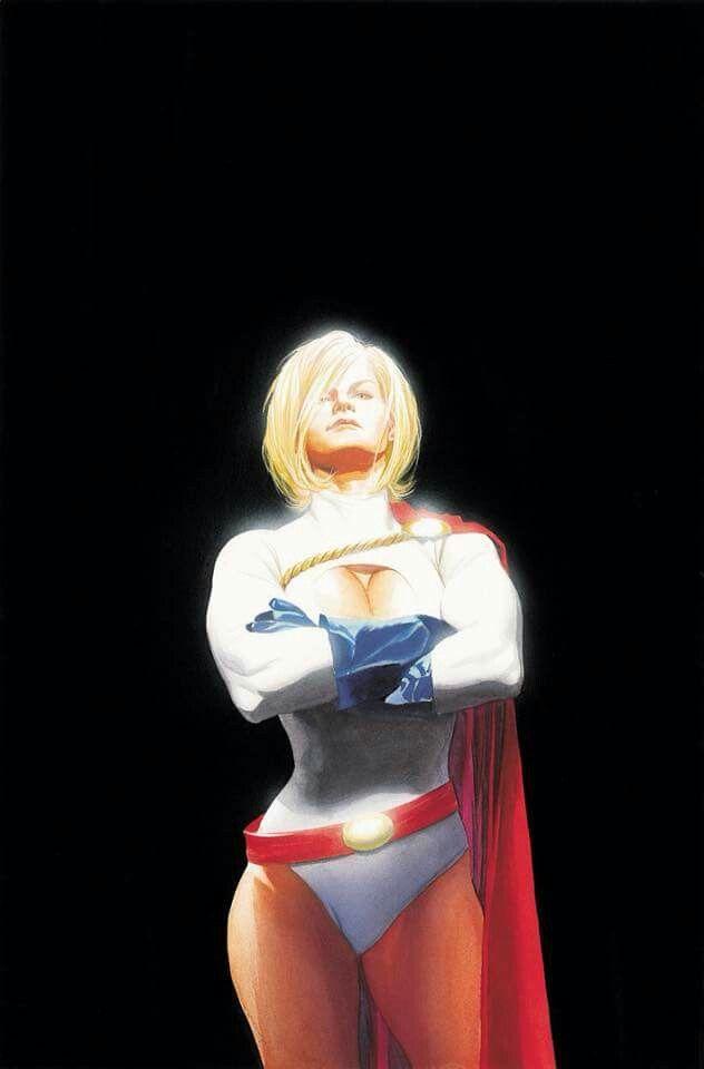 Znalezione obrazy dla zapytania power girl dc comics alex ross