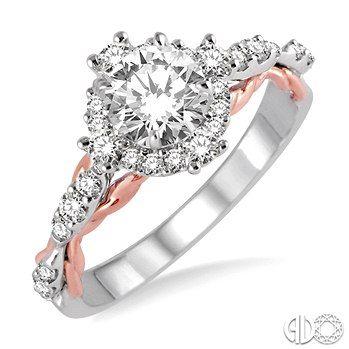Bob Richards Jewelers 3 8 Ctw Diamond Semi Mount Ring In 14k White Double Wedding BandsGemstone