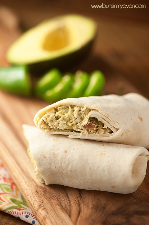 Pineapple Guacamole Chicken Wraps - a fun twist on chicken salad that's perfect for a hot summer day!