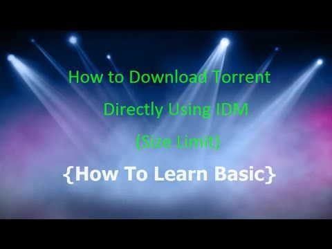 How to download torrent with IDM using Zbigz Full High Speed pc