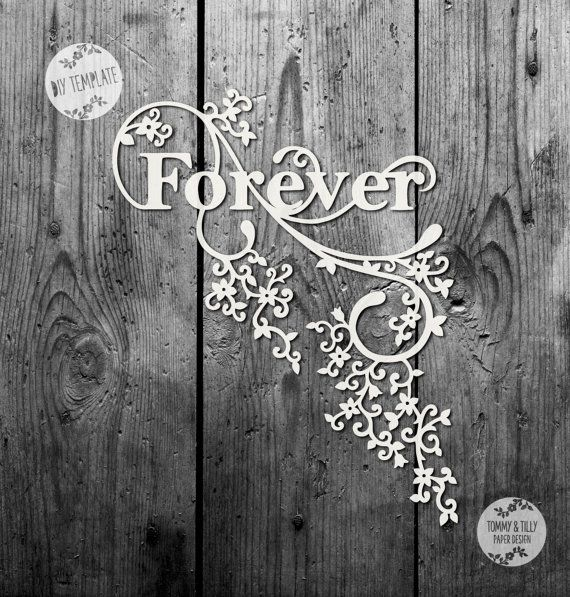 SVG / PDF Forever Design - Papercutting Template to print and cut yourself (Commercial Use)