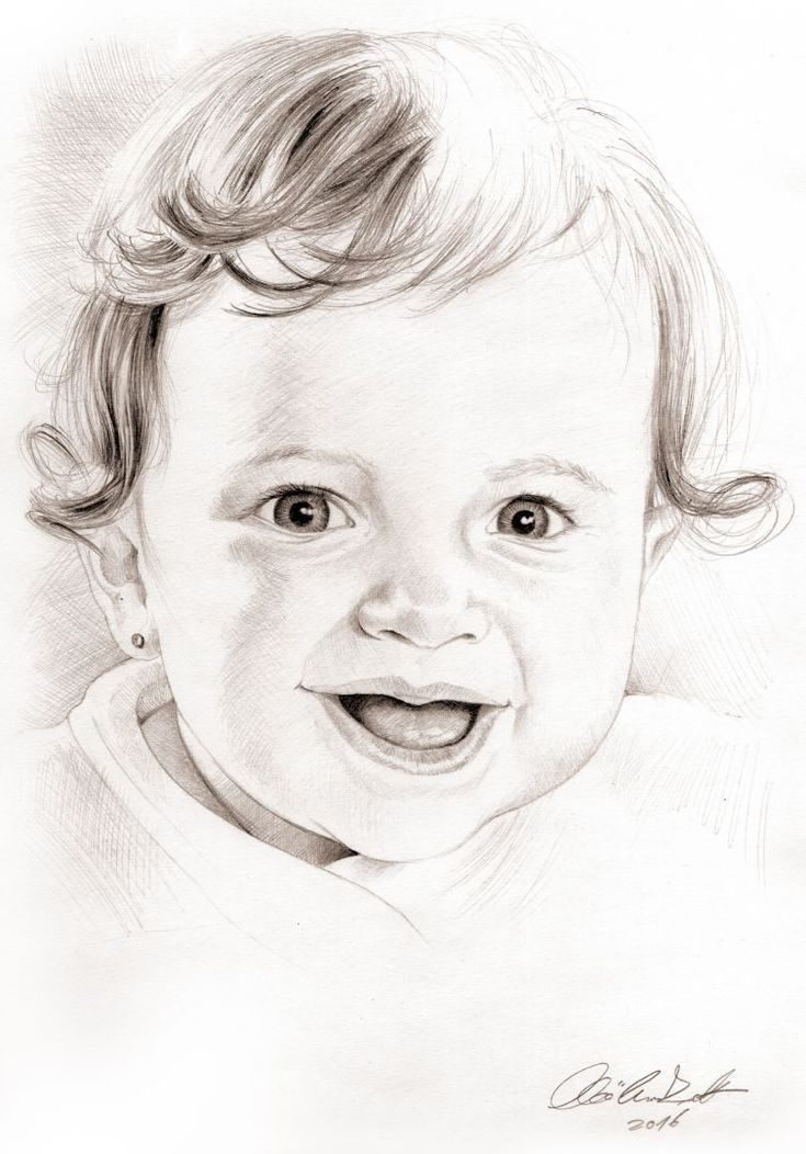 baby portrait - pencil drawing