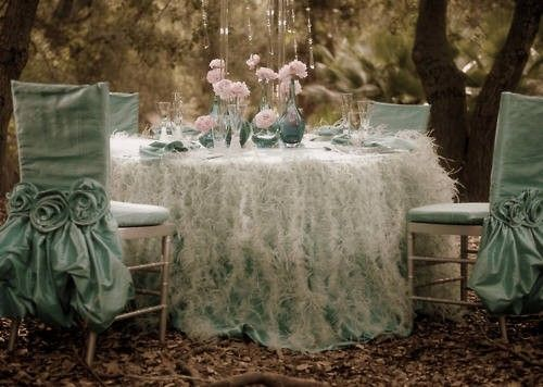 Eating on a Cloud: Table Settings, Tea Party, Chair Covers, Blue, Wedding Ideas, Color, Weddings, Party Ideas