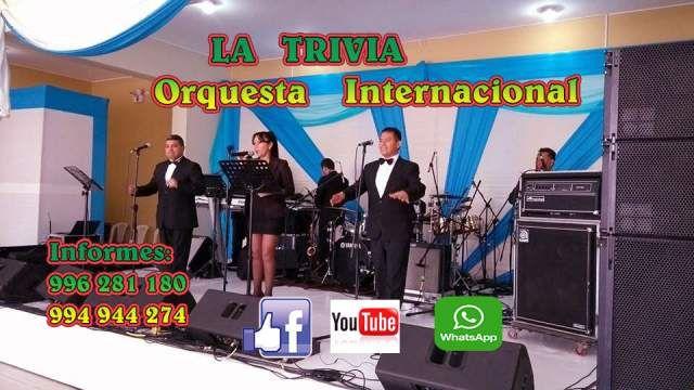 Orquesta Bailable Musica variada ORQUESTA SHOW LA TRIVIA ORQUESTA DE LIMA PARA MATRIMONIOS FIESTAS (LOS NOGALES 140 LIMA PERU)