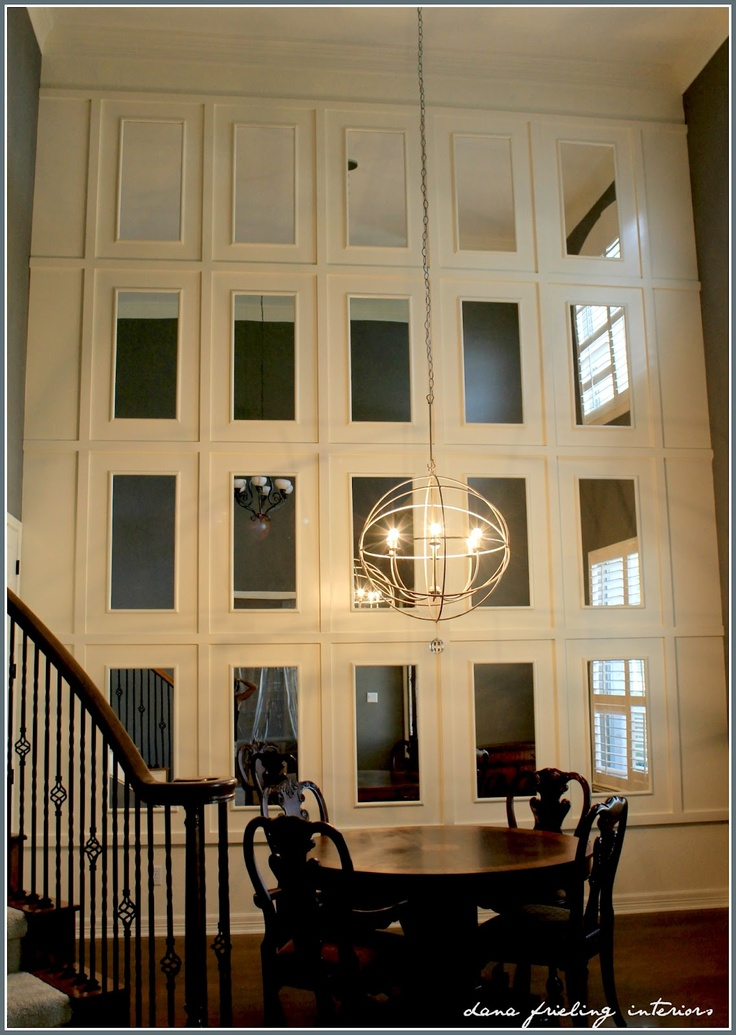 Love this entry way created with mirrors and molding  So cool. 126 best Trim  Moulding    Millwork images on Pinterest
