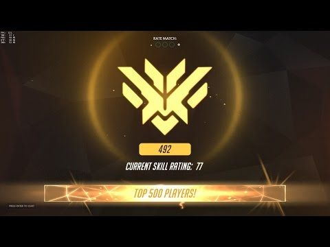 OVERWATCH - GETTING IN THE TOP 500 + REACTION - YouTube