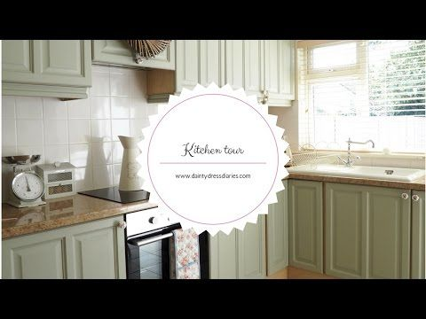 Kitchen tour and how I painted my kitchen cabinets using chalk paint - YouTube