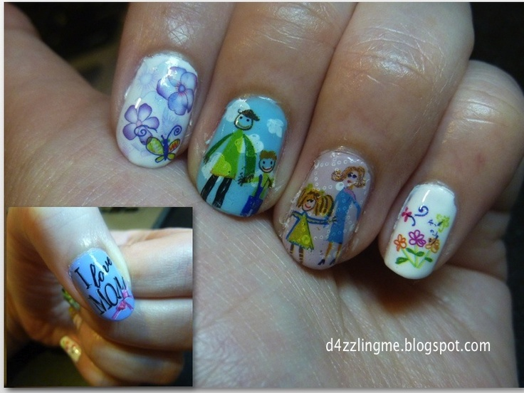 Nail Art Ideas, Nails Art For Mothers Day, Mother