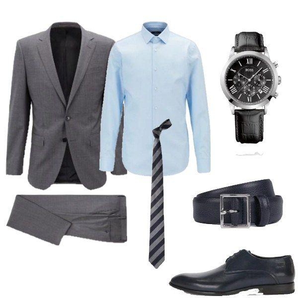 rivenditore all'ingrosso 48e82 01b76 AZZURRO SUL GRIGIO - Questo outfit è composto da abito ...