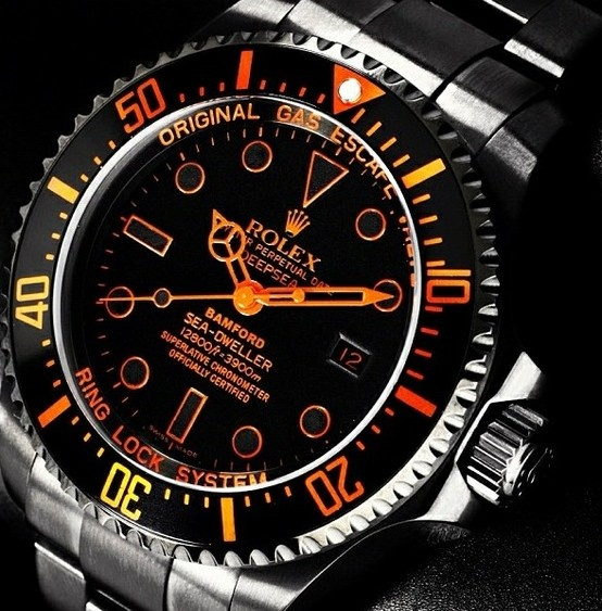 Great Rolex in Black and Orange #style #rolex #kysa