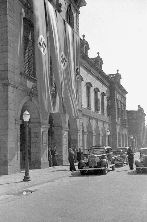 Parlament de Catalunya, parque de La Ciudadela, Barcelona 1940