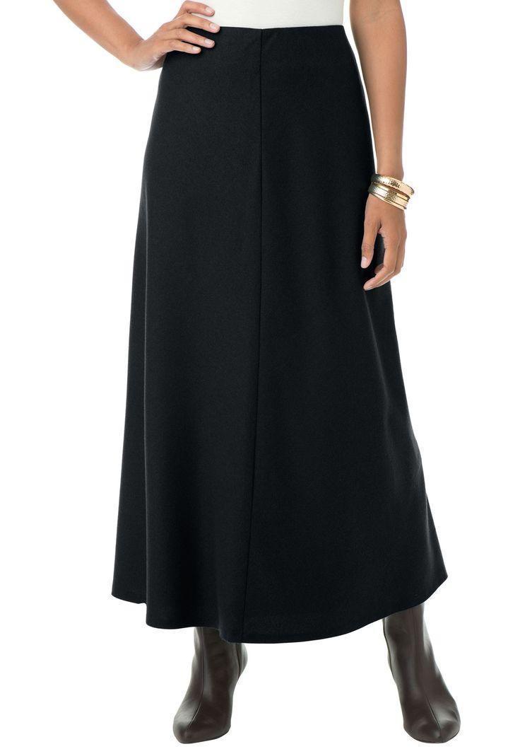 Plus Size Long Wool Skirt