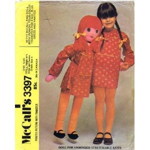Betsy McCall Rag Doll Girls Dress Panties Size 4