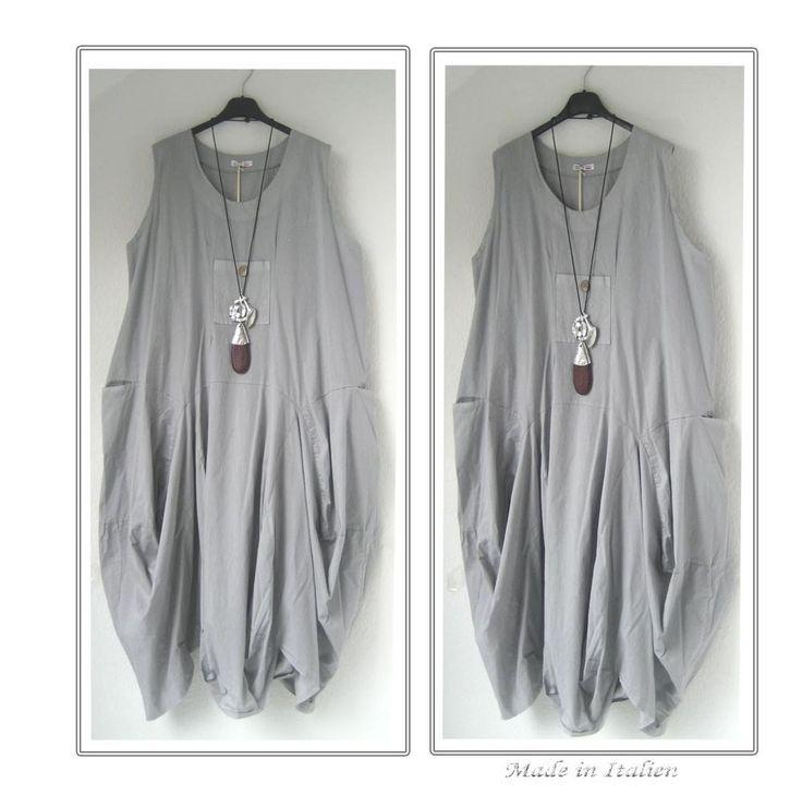 LAGENLOOK-TRAUM BALLON KLEID- 48 50 52-DRESS-ÜBERWURF-LONG TUNIKA-XXL-XXXL-NEU in Kleidung…