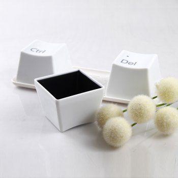 3PCS increíble teclado de diseño creativo Copa Ctrl + Alt + Del café Taza de té - Blanco para Vender - La Tienda En Online IGOGO.ES