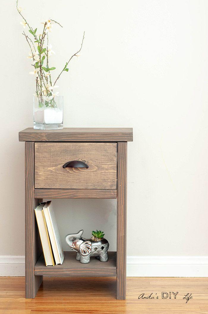 Easy Diy Nightstand With Hidden Compartment Diy Nightstand Diy Furniture Bedside Table Diy