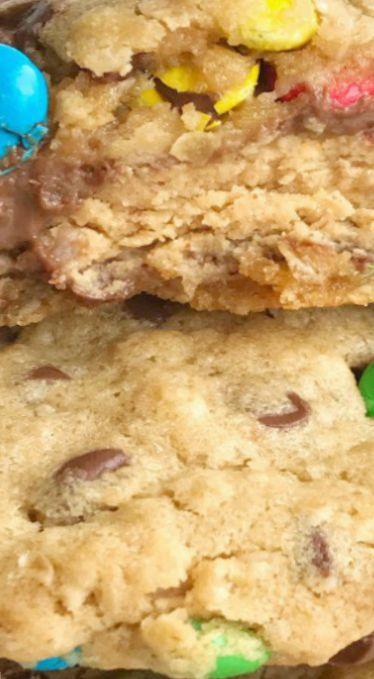Giant Reese's Stuffed Monster Cookies