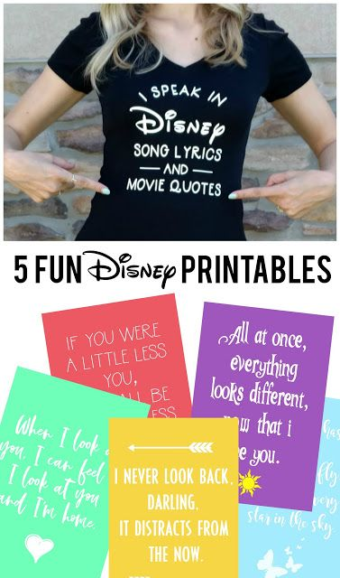 5 Fun {and Free} Disney Printables