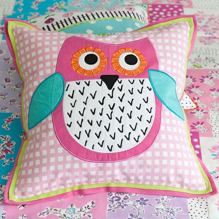 adorable owl decorative pillow