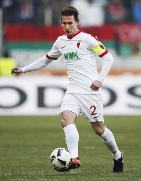Paul Verhaegh of Augsburg in action during the Bundesliga match between FC Augsburg and TSG 1899 Hoffenheim at WWK Arena on January 21, 2017 in Augsburg, Germany.
