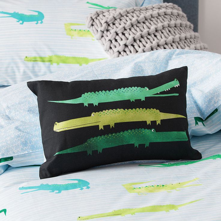 Adairs Kids - Crazy Croc Quilt Cover Set Pale Blue - Adairs Kids Quilt Covers & Coverlets - Adairs Kids - Adairs Kids Online