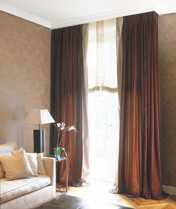Las 25 mejores ideas sobre cortinas de lino en pinterest y - Cortinas de esparto ...
