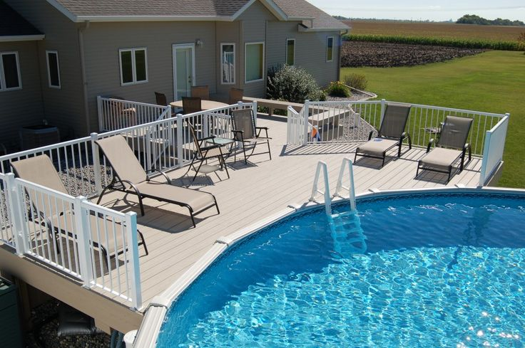 1000 images about swimming pool on pinterest pool for Multi level deck above ground pool