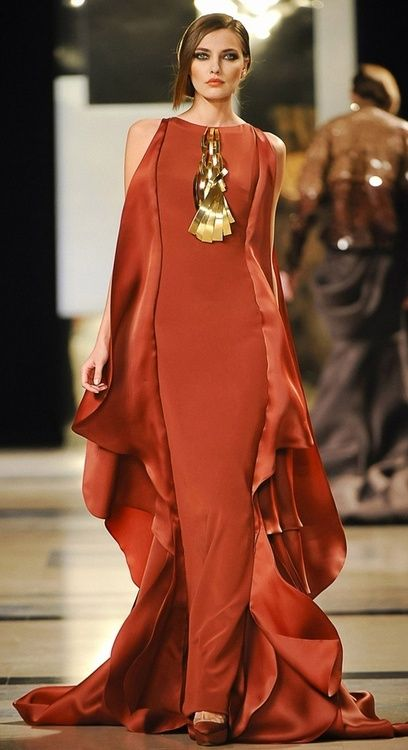 love this dress, reminds me of a phoenix rising from flames. In a richer, hotter shade of red..