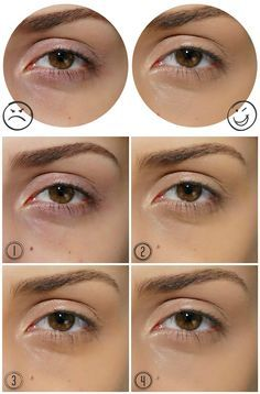 Como maquiar olheiras escuras e arroxeadas passo a passo Foto tutorial
