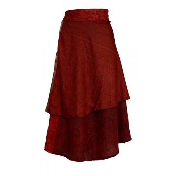 how to make a sari skirt