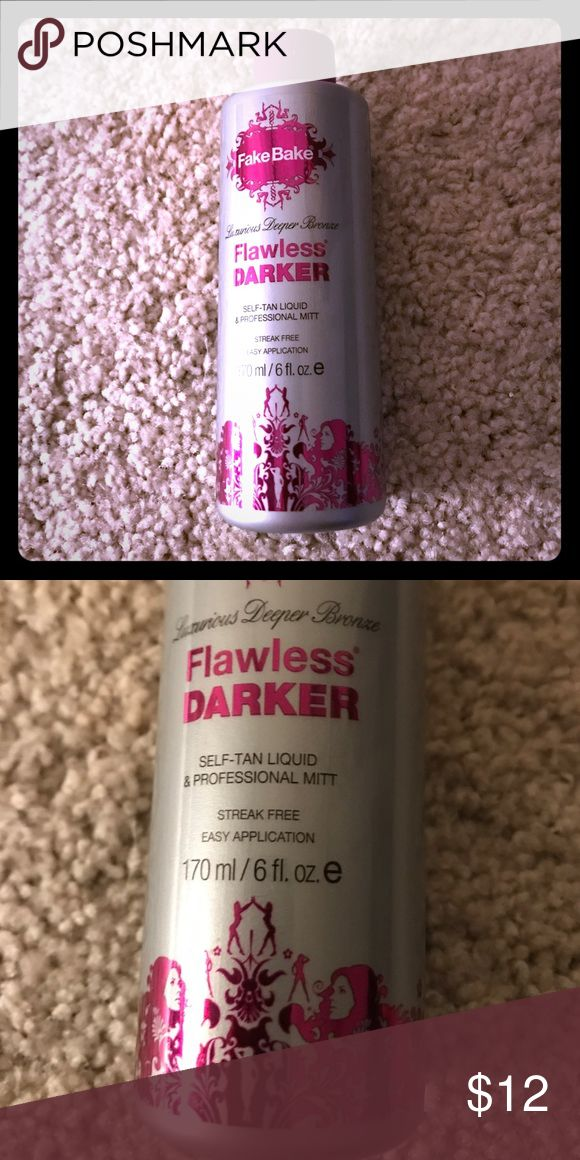 """Fake bake flawless self tanner Fake bake flawless self tanner. Doesn't include an applicator so it will be a great refill bottle. It's the """"darker"""" version so it will get you darker with fewer applications fake bake flawless Makeup Bronzer"""