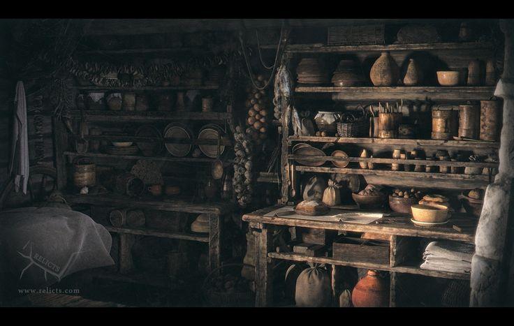 ArtStation - Relicts Hut - Kitchen, Arkadiy Demchenko