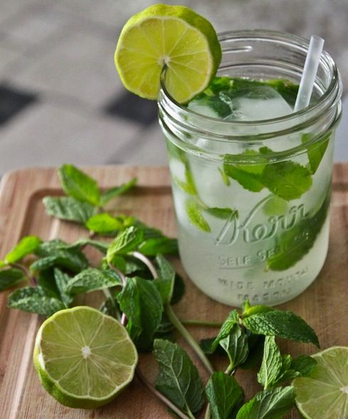 Lime & mint water