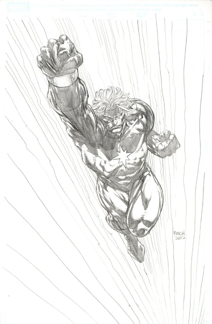 Captain Marvel by David Finch