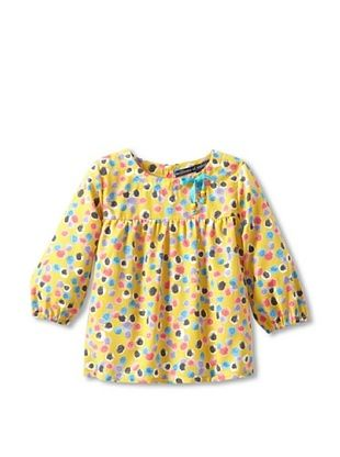 71% OFF Millions Of Colors Girl's Tie Neck Top (Dot Print)