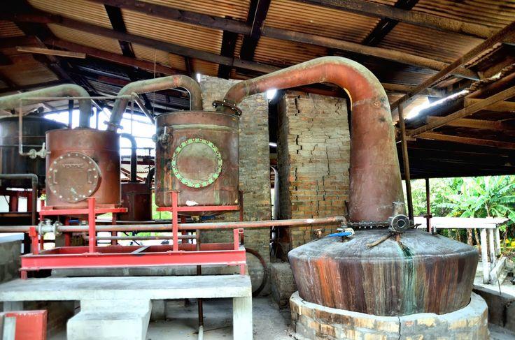 Rum stills are an interesting tradition. Large pot still
