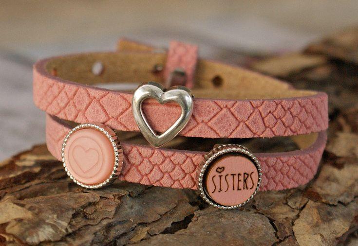 Leder Wickelarmbänder - schönes  Wickelarmband, Leder, Schiebeperlen - ein Designerstück von Heikes-Kreativ-Stuebchen bei DaWanda