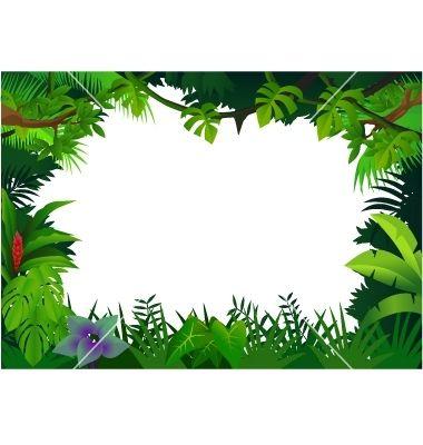 Free Printable Clip Art Borders | Jungle frame vector 506296 - by dagadu