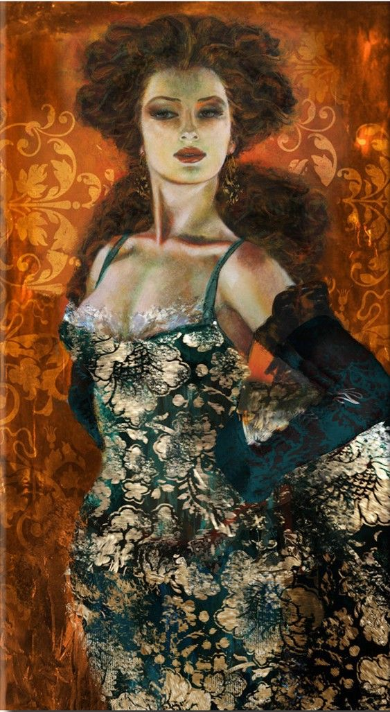 Liana Gor - Madame 36x24 - Oil on Canvas