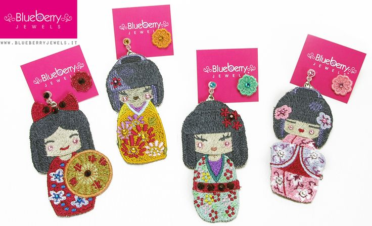 Our sweet Kokeshi dolls collection ;) http://www.blueberryjewelstore.com